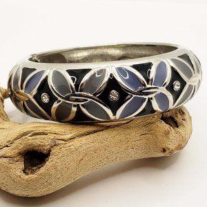 Cookie Lee genuine crystal enamel cuff bracelet ba